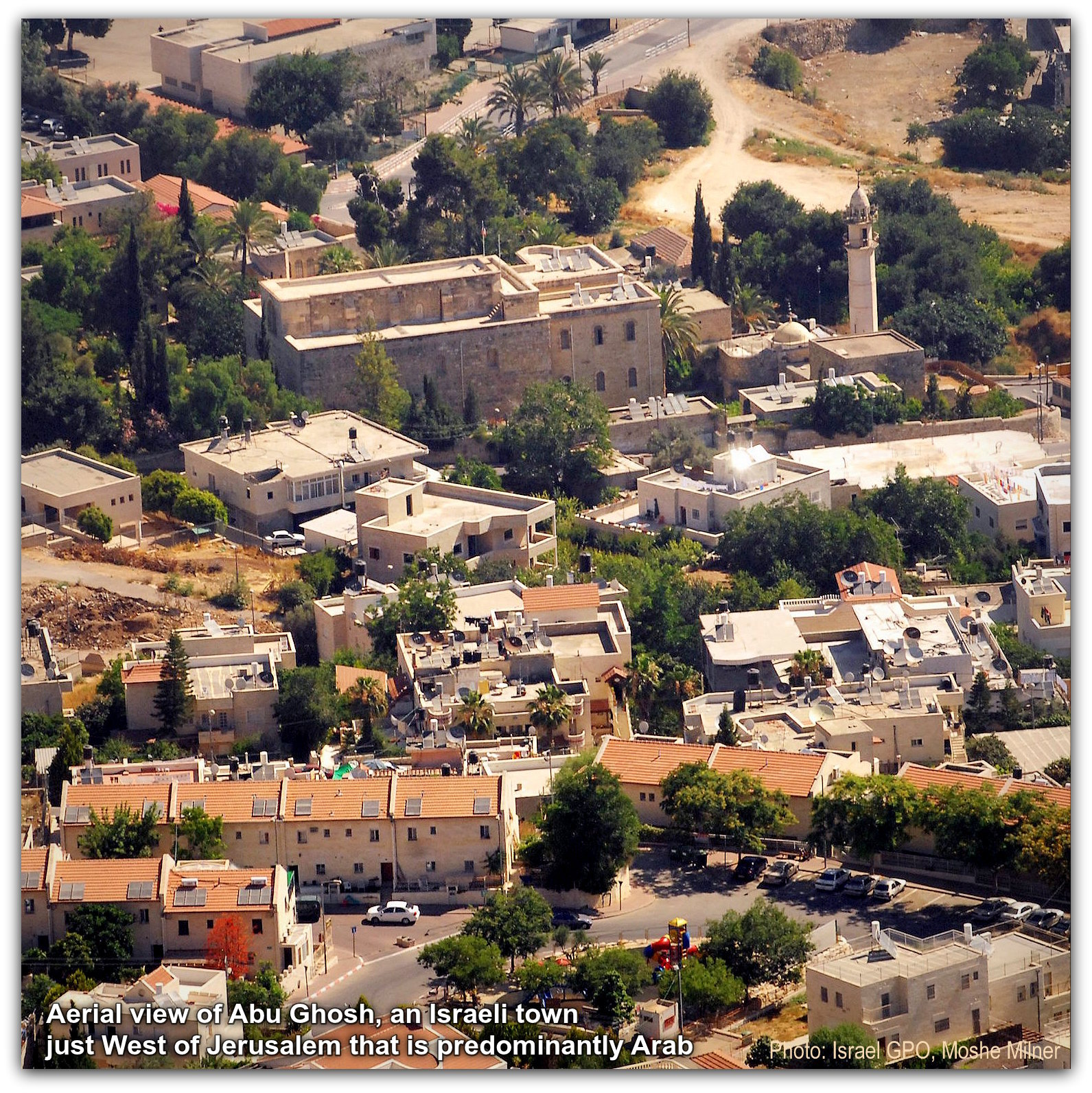 AERIAL VIEW OF THE LOCAL COUNCIL OF ABUGOSH Photo GPO Moshe Milner NO TITLE