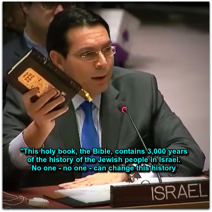 Amb Danon at UN Sec Council on 23 Dec 2016 Photo YouTube screenshot Assaf Chriqui channel CORRECTED LOGO