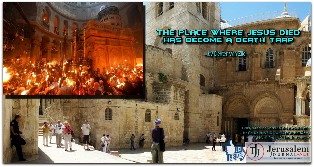 Church of Holy Sepulcher death trap article by Van Zile | Photos Wikimedia Commons