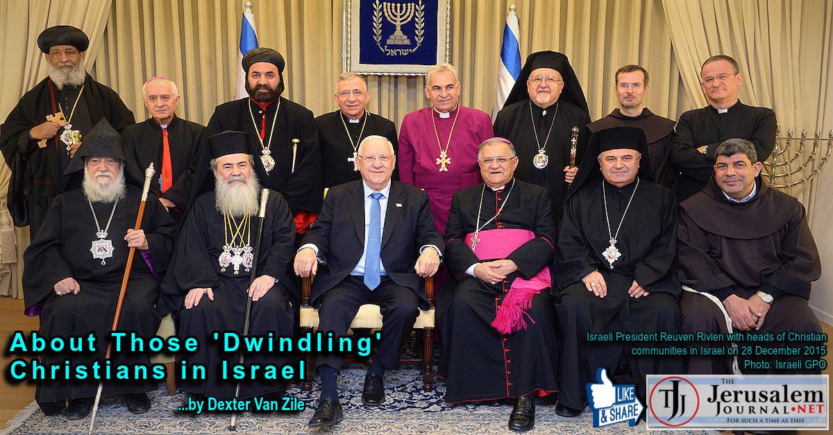 Israeli President Rivlin with Christian community leaders Dec 2015 | Photo: Israeli GPO