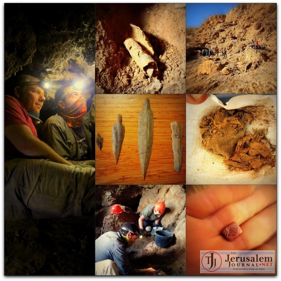 Discoveries at new Qumran Cave 12 Photos Casey L Olson and Oren Gutfeld LOGO