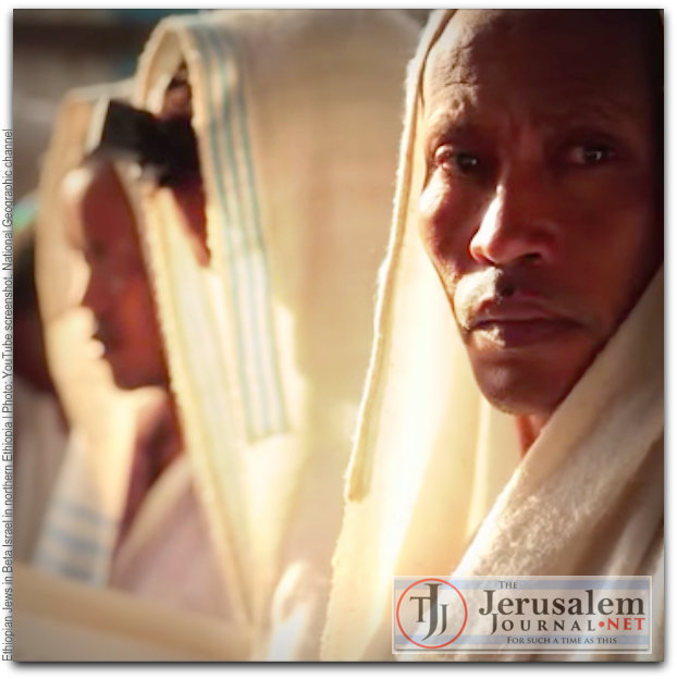 Ethiopian Jews in Beta Israel community in N Ethiopia Photo YouTube screenshot National Geographic channel LOGO