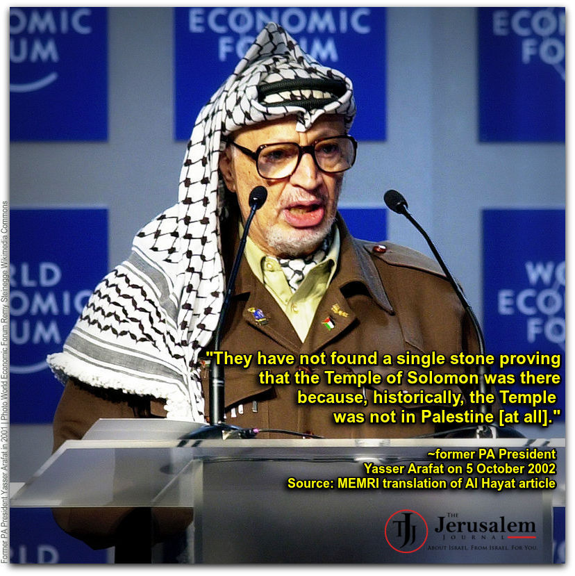 Former PA President Yasser Arafat Photo World Economic Forum Remy Steinegge Wikimedia Commons WITH QUOTE