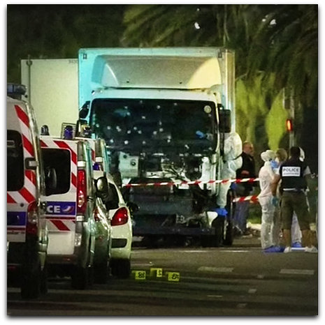 France terror truck shot up and dead