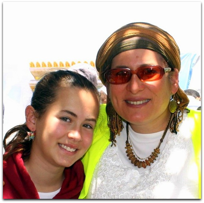 Hallel (left) and her mother, Rina Ariel [Courtesy]