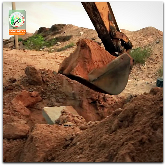 Hamas digging tunnels | YouTube screenshot from the Al Qassam Brigades music video, Hamas Tunnel Song Nasheed, on the HowtoSPS channel
