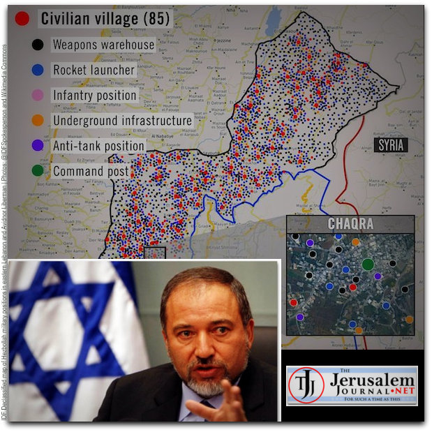 IDF infographic and Lieberman montage LOGO