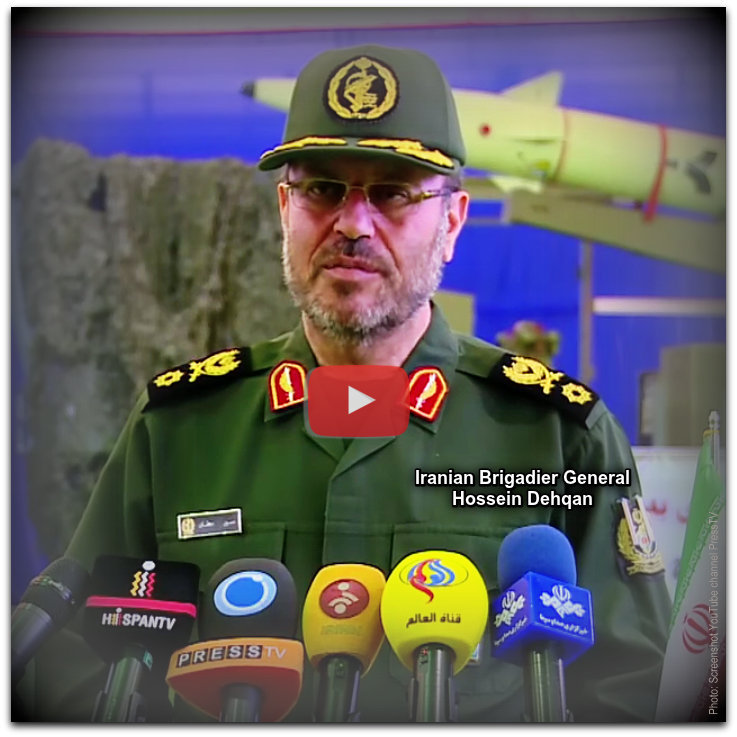Iranian Brigadier General Hossein Dehqan Photo YouTube screenshot PressTV channel Mod01a