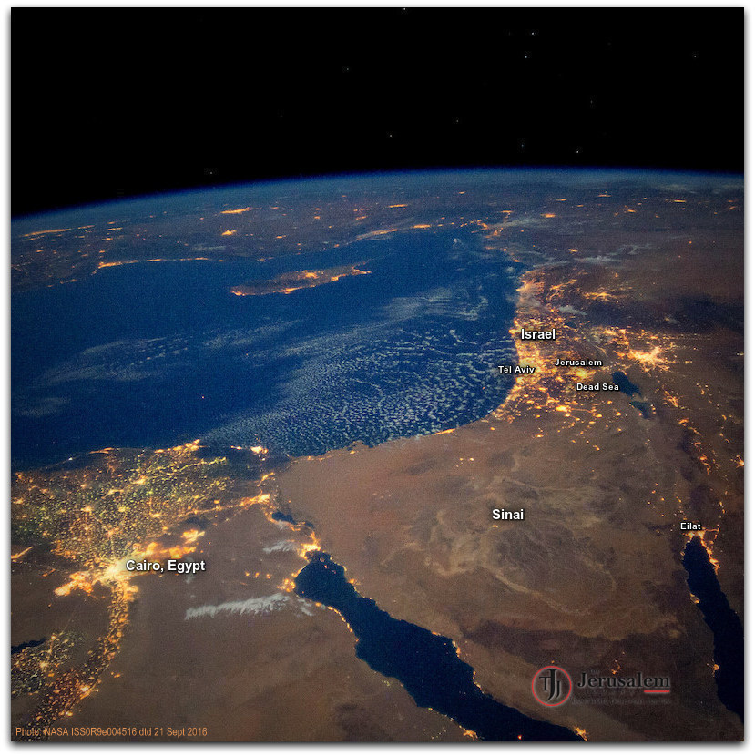 Israel and Egypt from Intl Space Station Photo NASA WITH CAPTIONS