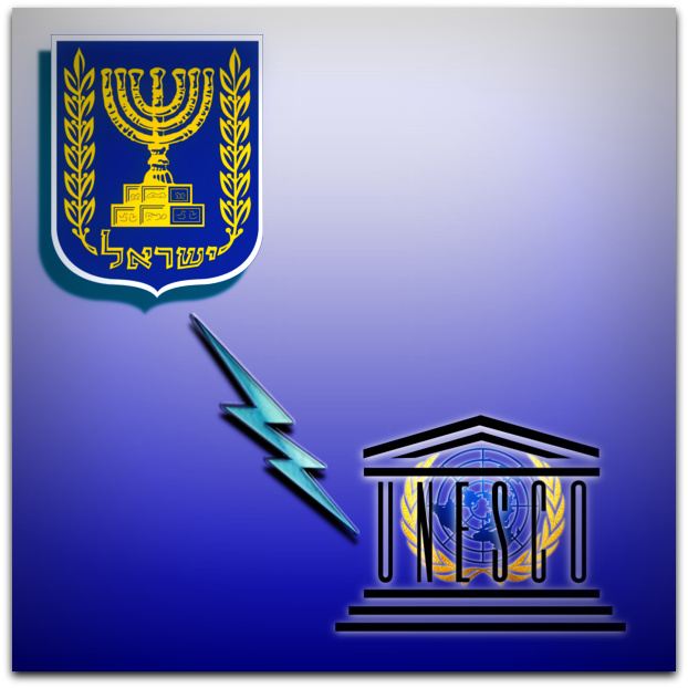 Israel severs ties with UNESCO Photo composite by Jerusalem Journal.png