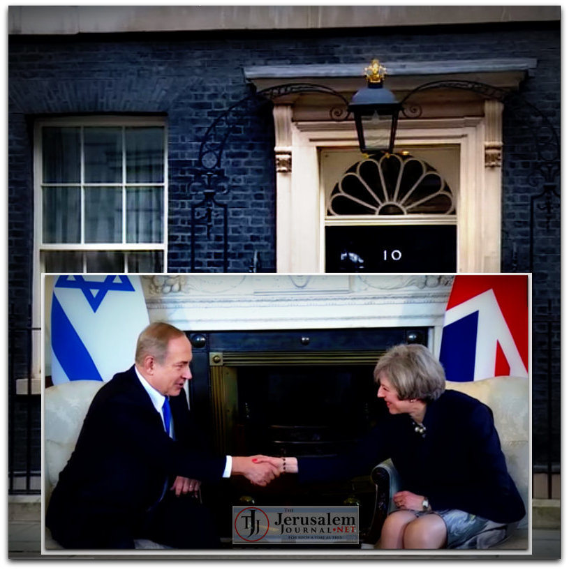 Montage Netanyahu and May meet in London on 6 Feb 2017 Photo YT screenshot IsraelPM channel