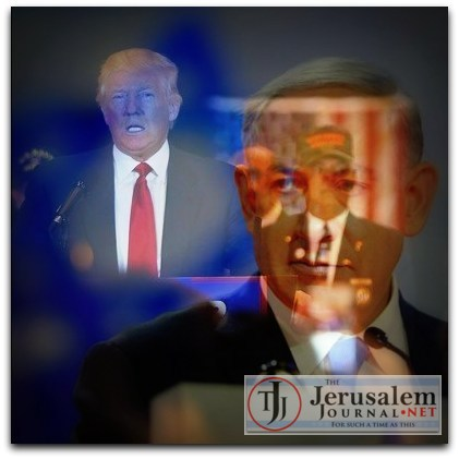 Montage Trump and Netanyahu Photos DonaldJTrump dot com and Israeli GPO LOGO