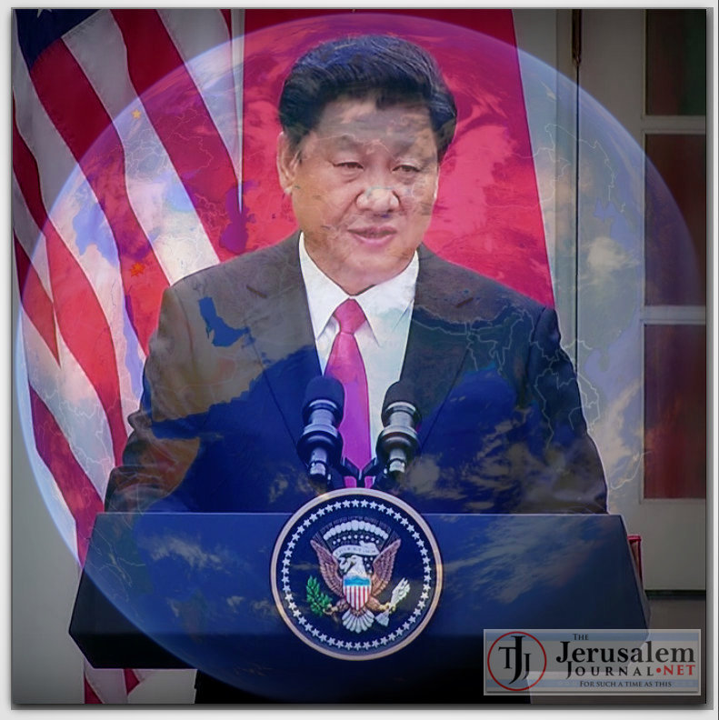 Montage Xi Jinping in DC with Obama and Planet Earth Photos Obama White House channel and Google Earth LOGO