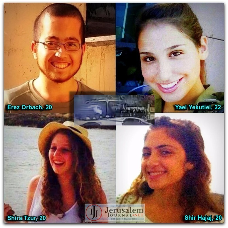 Montage of 8 Jan 2016 terror victims in Jerusalem Photos Twitter AviMayer and StandWithUs accounts LOGO