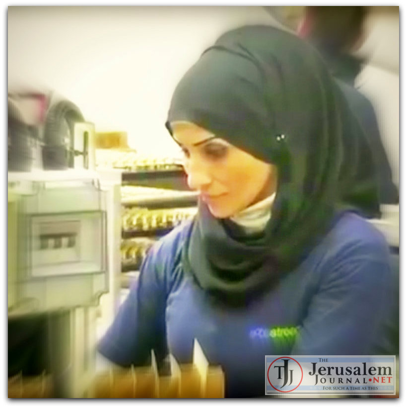 Palestinian employee at Israeli business in Judea Samaria Photo YT screenshot VOA News channel LOGO