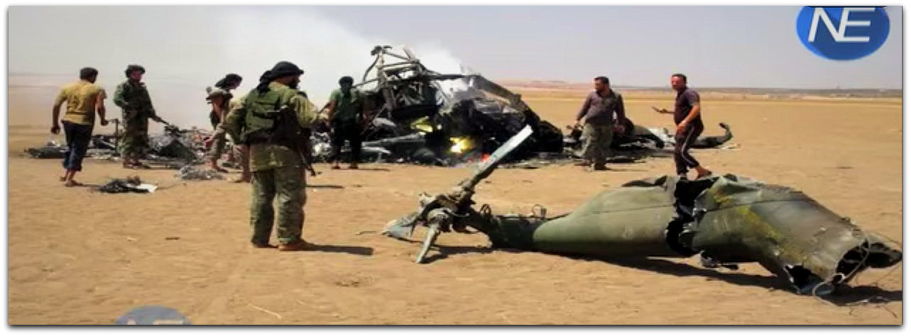 Russian Helicopter wreckage 1 August 2016 | Photo: YouTube screenshot News Express channel 02