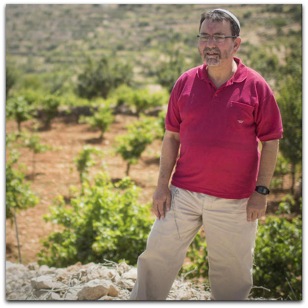 Ardie Geldman near his home in Efrat