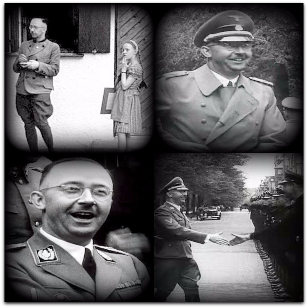 Snapshots of Himmler while supervising Nazi genocide Photo YouTube screenshot RTVNederland channel