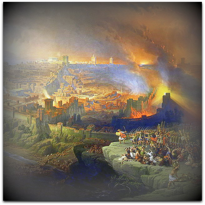 The Siege and Destruction of Jerusalem by the Romans Under the Command of Titus A.D. 70 Oil on canvas 1850