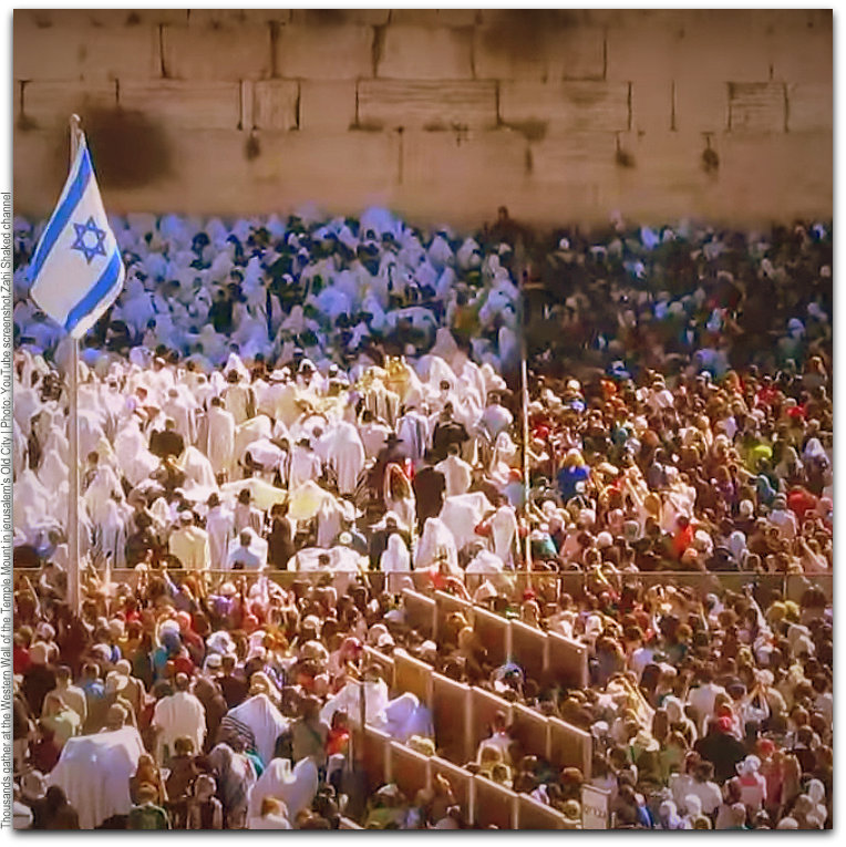 Thousands gather at Western Wall Photo YouTube screenshot Zahi Shaked channel