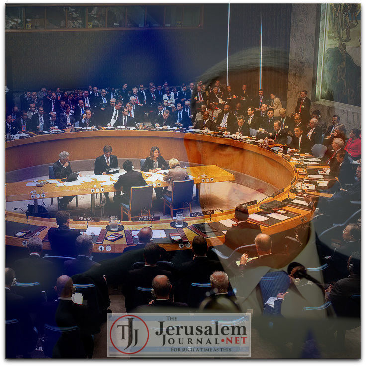 UNSC w Netanyahu overlay Photos Wikimedia Commons and Israel GPO