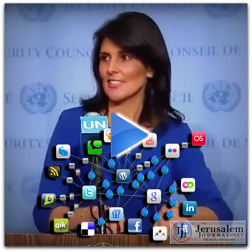US Amb to UN Nikki Haley Photo YT UN Watch channel LOGO