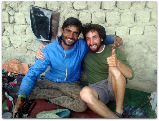 The author, Shalev Paller, with Rajaswa, a cobbler, in Leh, India (Photo: Shalev Paller)