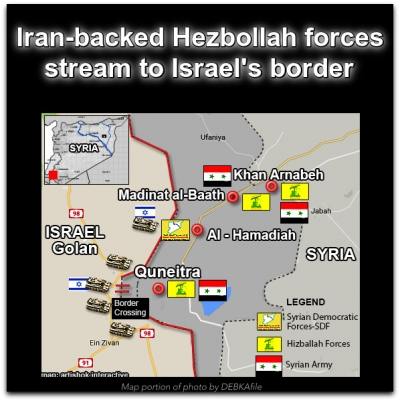 Image result for pics of iran at golan border